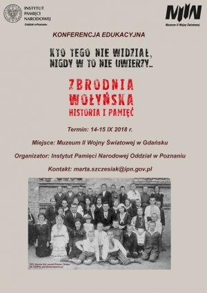 Konferencja edukacyjna dla nauczycieli na temat Zbrodni Wołyńskiej